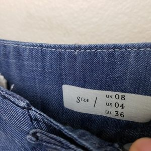 Pilcro and the Letterpress Jeans - Anthro Pilcro High Rise Cropped Wide Leg Jeans